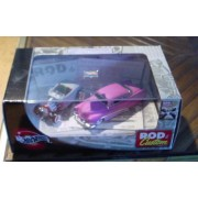 Hot Wheels 100% Rod & Custom 2-car set w/ '51 Merc & Roadster 1:64 Scale Die Cast by Mattel by Mattel