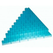 Premium Big Briks Clear Turquoise Basic Builder Set #1 - 84 Pack - (Big LEGO DUPLO Compatible) - Large Pegs