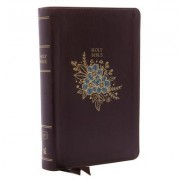 KJV, Deluxe Reference Bible, Personal Size Giant Print, Imitation Leather, Burgundy, Red Letter Edition