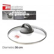 Coperchio in vetro 36 cm Accademia Mugnano Linea CUORE DI PIETRA Mineral Stone
