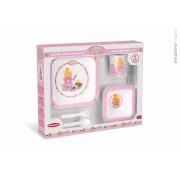 Gyermek étkészlet Melamine Set Rose Plays Princess Pazapa 6 hó-tól rózsaszín