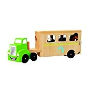 Woodyland 30.5 x 16 x 7 cm Didactic Toys Truck with The Horse Trailer (4-Piece)