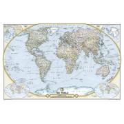 Wereldkaart Politiek, 125th anniversary, 117 x 77 cm   National Geographic