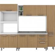 Cozinha Compacta Adapt 10 Henn Branca com Amêndoa