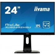 "Monitor IPS LED iiyama 23.8"" XUB2492HSU, Full HD (1920 x 1080), VGA, HDMI, DisplayPort, 5 ms (Negru)"