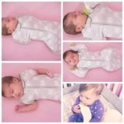 The Woombie Hybrid 4-in-1 Swaddle/Sleep Sack-Mega Baby 6 Months+-Elephant Graphic Print