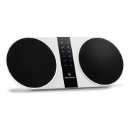 Auna F4 Stereo, formatervezett bluetooth hangfal USB AUX FM/AM akkumulátor microSD (BTS7-F4 STEREO-white)