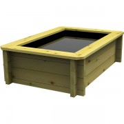 2m x 1.5m, 44mm Wooden Pond 965mm High