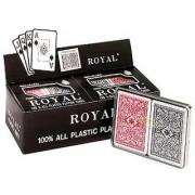 Royal 100% Plastic Big# Bridge Double Decks Display Pack of 6