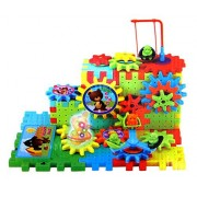 Puzzled Musical Magic Blcoks Interlocking Building Blocks and Construction Toys - Buildings Theme - 81 colorful Pieces