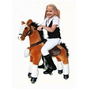 UFREE Horse, Action Pony, Ride on Toy, Medium Moving Rocking Horse, Giddyup, Go Go, Pony 36 Unique Gift for Age 3-9 Years(Mane&Tail Color: Black)