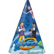 Amscan - 9900188 - 8 cappelli di Festa - Playmobil super 4