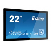 iiyama ProLite TF2234MC-B1X 21,5' LED LCD PCAP Frameless 10P Touch Screen 1920x1080 IPS VGA DVI 225 cd/m² 1000:1 14ms USB Touch Interface ext. PSU VESA 100