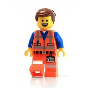 LEGO Movie Masterbuilder Emmet Minifigure (Open Mouth Smile and Angry Faces)