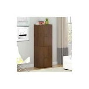 Tall Wood Storage Cabinet Closet Organizer Pantry Shelves
