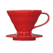 Hario Coffee Dripper V60 Size 01 Red Ceramic (japan import)