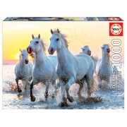 Educa Puzzle Genuine White Horses at Sunset Educa 1000 de piese 17105
