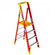 Werner 4 Tread Fibreglass Platform Stepladder