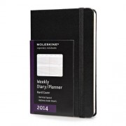 Moleskine 2014 Weekly Diary / Planner Black Vertical Pocket