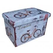 Design tárolós ülőke, 48x32, Bicycle