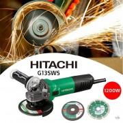 Hitachi Haakse Slijpmachine 125mm G13SW(S) 1200W