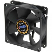 Titan TFD-8025M12ZP(PW1) Case Fan, Ventola 80x80x25mm, connettore 4-Pin scheda madre con termoregolazione PWM, 12VDC