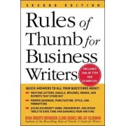 Rules of Thumb for Business Writers by Diana Wienbroer