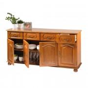 Bahut 4 portes 4 tiroirs Quimper - Chêne