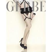 Edle Strapsstruempfe in glamouroeser zweifarbiger Optik New Vintage von Gerbe, schwarz, Gr. S