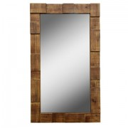Espelho Mosaico Pinus Envernizado - Markine Mobilier