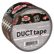 Signature Crafts DT210HWY66 Printed Singles Highway 66 Fashion Duct Tape 10 yd 1.88