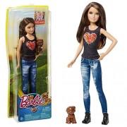 MATTEL Barbie famille - poupée Skipper avec le chien - Les grands chiens aventure