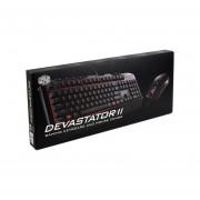 Teclado Gamer Y Mouse Cooler Master Devastator II Gaming Combo, USB, LEDs Rojo. SGB-3031-KKMF1