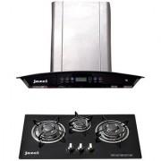 Jazel Optima 60Cm 1100M3/H + 3 Burner Hob (Combo Set Offer)