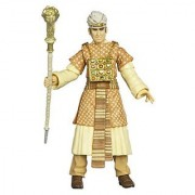 Indiana Jones Movie Series Raiders of the Lost Ark 4 Inch Tall Action Figure - Ren Belloq with Colorful Robe Jewels and Ram Headed Staff Plus Hidden Relic Accessories in a Crate