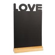 Tabla pentru creta, suport lemn, forma Love, SECURIT