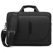 CoolBell 15.6 Inch Laptop Messenger Protective Briefcase Bag Nylon Oxford Case Shoulder Bag Multi-functional Hand Bag For Laptop / Ultrabook / Tablet / Macbook / Dell / HP / Men/Women/Business (Black)