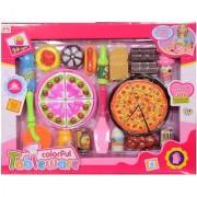 Montez Play Food Set Cooking Mini Plastic Pizza Set Foods Toy