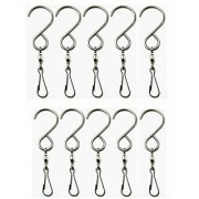StarSide 10pcs Smooth Spinning Swivel Hooks Clips Work Great for Wind Spinners Spiral Tails Bird Feeders Etc.