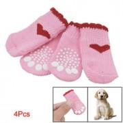 Mini calzini/scarpe per cane/gatto con antiscivolo! Japan-Design Cuori Rosa
