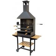 71555 Barbacoa chimenea con ruedas kit pollo