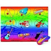Puzzled Musical Instruments Wooden Peg Puzzle