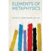 Elements of Metaphysics by Taylor A E 1869-1945