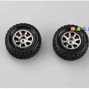 Generic 2pc 02 Right Wheel : WL Toys Racing A949 A949-01 Left Wheel A949-02 Right Wheel Spare Parts Accessories Accessory Car