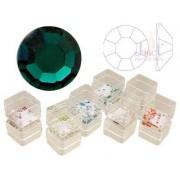 Pietricele cristal, 50 buc., culoare emerald, ss5, art. nr.: 761539