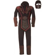 Red Skull Warrior Ninja Costume - Large