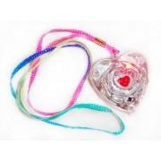 Ciondolo a forma di cuore con luce Strobo multicolor e cordino