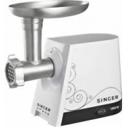 Masina de tocat Singer SMG-1800, 1800 W, 2.3 Kg/min, Accesoriu pentru suc de rosii, Alb