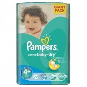 Scutece Active Baby 4+ Giant Pack, 70 buc, Pampers
