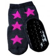 Ewers anti-slip sokken Stoppi antraciet fuchsia ster